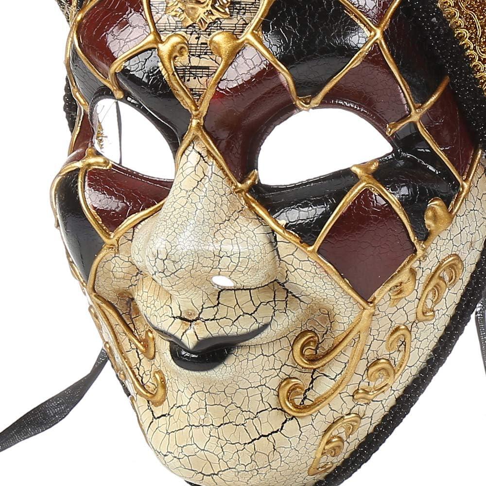 BLEVET Vintage Unisex Venetian Harlequin Eye mask Party Halloween Costume Mardi Gras Mask ND002