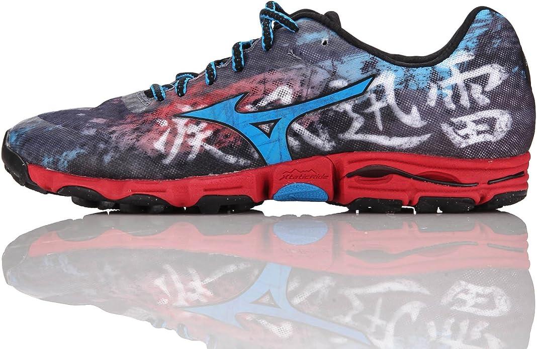 MIZUNO Wave Hayate Zapatilla de Trail Running Caballero, Azul/Rojo ...