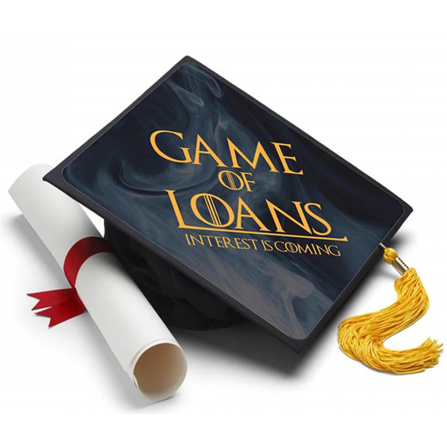 Amazon Game of Loans Graduation Cap Tassel Topper Decorated