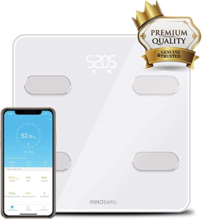 Bathroom Scales Weighing Body Fat Smart Bluetooth Digital Weight Scales Body Composition Analyser With App Support Bmi Muscle Mass Measuring Innobeta Fitfy Amazon Co Uk Kitchen Home