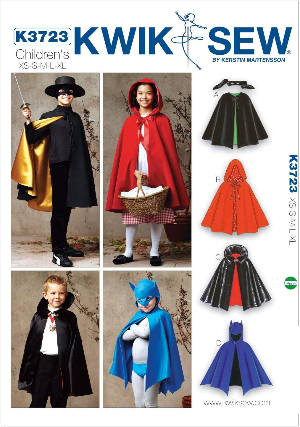Sewing pattern Lady Capes Size XS-L