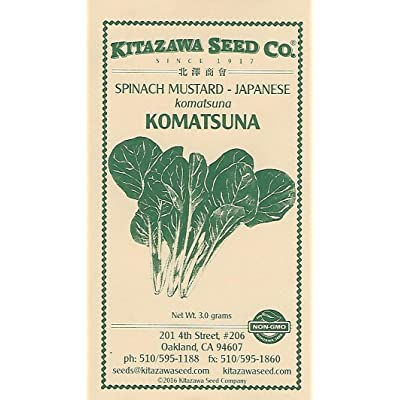 Spinach Mustard - Japanese Komatsuna - 3.0 Grams : Garden & Outdoor