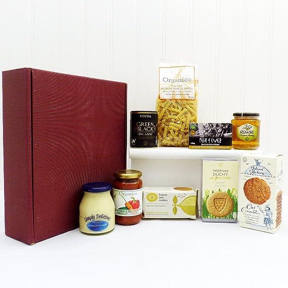Trocitos orgánica cesta de comida de regalo, ideas de regalos