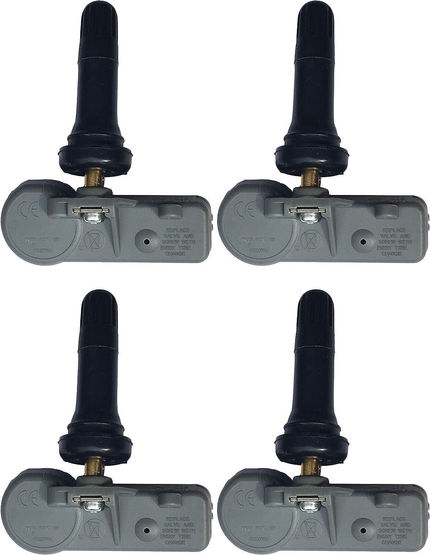 TPMS016 Gussin 433Mhz TPMS sensor Tire Pressure Monitoring System Sensor for ALFA ROMEO CHRYSLER DODGE FIAT RAM VOLKSWAGEN OE replacement (Pack of 4 sensor)