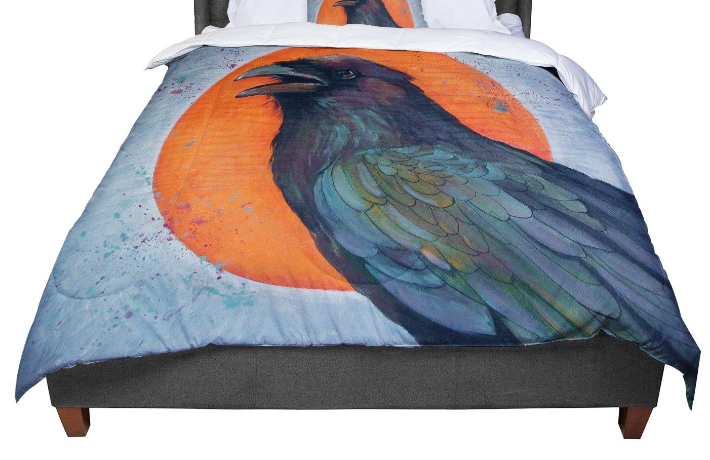 104 X 88 Cal King Comforter KESS InHouse Lydia Martin Raven Sun King