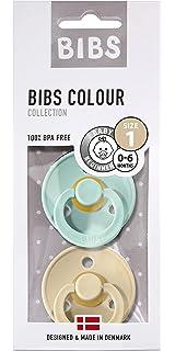 BIBS Colour Chupetes Pack 2 - Iron//Beige 6-18 Meses Talla 2 Sin BPA Caucho Natural