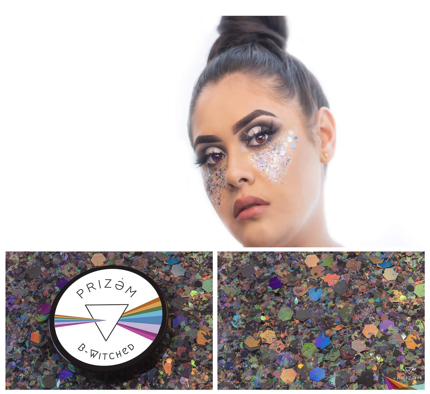 Prizem B-Witched Glitter ▽ 60g ▽ Festival Glitter , Chunky Glitter , Makeup Glitter , Face Glitter , Body Glitter , Glitter Makeup , Hair Glitter , Cosmetic Glitter , Nail Glitter , Eyeshadow Glitter