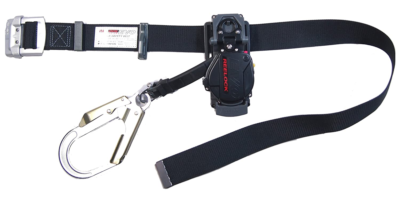 タイタン 巻取り式安全帯 リーロックEVO ベルト色 ブラック EL-504-BL