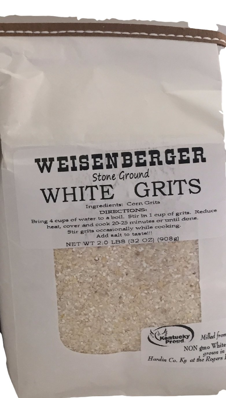 White Grits 1 - 2lb Weisenberger Mills Southern Ky Proud ProductPackage by Weisenberger Mills