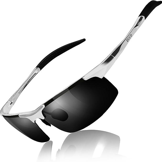 0e2f059c910 Duco Men s Sports Style Polarized Sunglasses Driver Glasses 8177S (Silver Frame  Gray Lens)  Amazon.in  Clothing   Accessories