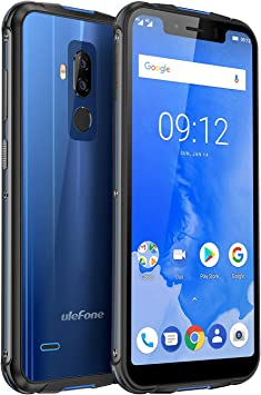 Ulefone Armor 5 Smartphone IP68 Resistente Libre, Octa Core, 4GB + 64GB, Android 8.1, 5000mAh, Carga Inalámbrica, 5.85 18:9 Pantalla Grande, Doble Cámaras Traseras, Doble SIM 4G, NFC (Azul): Amazon.es: Electrónica