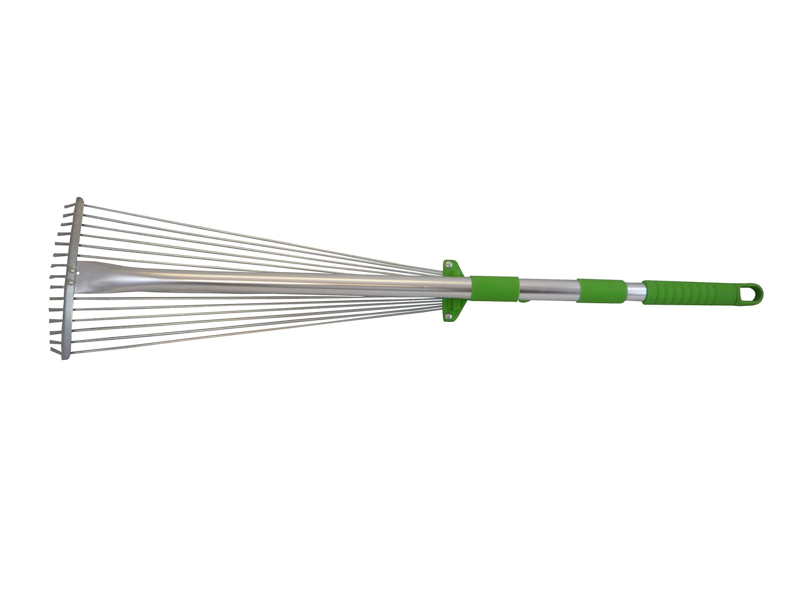 Tierra Garden 35-1812 Stainless Steel Adjustable and Telescopic Rake