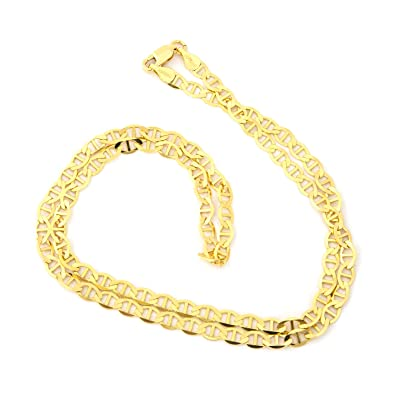 flat chain yellow sq gold mariner goldenmine necklace com chains p