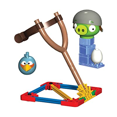 Angry Birds K'Nex Blue Bird vs. Helmet Pig Building Set [29 PCS]: Juguetes y juegos