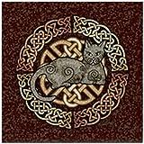 CafePress - Celtic Cat - Tile Coaster, Drink Coaster, Small Trivet