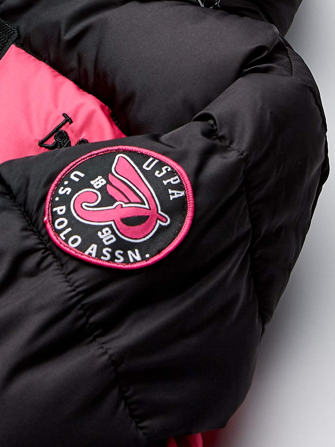 More Styles Available 7//8 Parka-UA88-Fuchsia US Polo Association Girls Big Outerwear Jacket