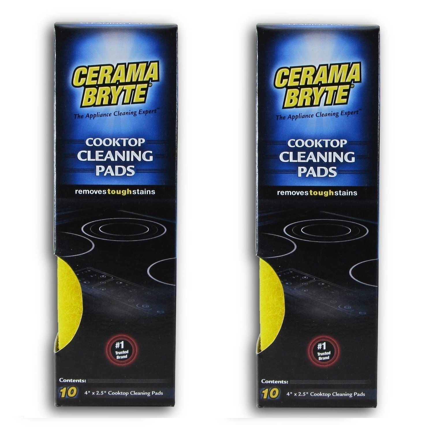 Cerama Bryte Cooktop Cleaning Pads, 10-Count 2 Pack