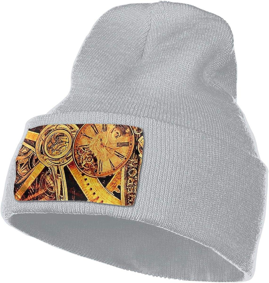 Mens and Womens 100/% Acrylic Knit Hat Cap Gear Mechanism Soft Skull Beanie