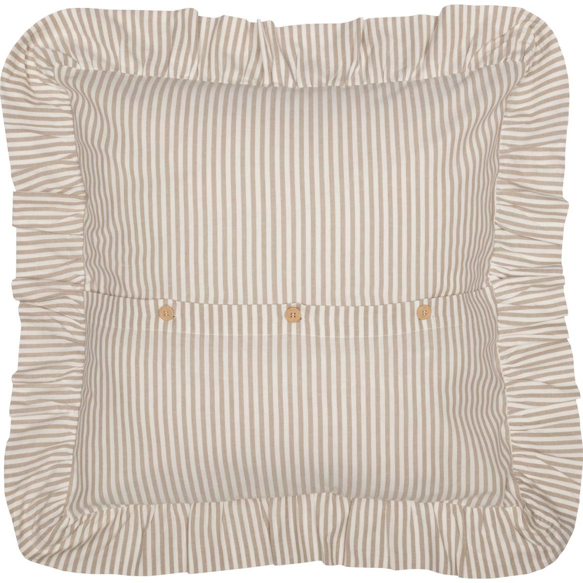 Piper Classics Farmhouse Ticking Stripe Duvet Cover Bedding Soft Comfortable Farmhouse Bedroom Decor Queen 92x92 Comforter Cover w//Twill Ties Beige Taupe /& Off-White
