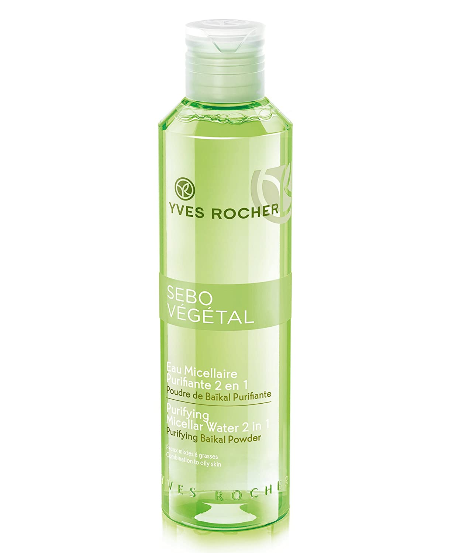Yves Rocher Sebo Vegetal Purificante Agua Micelar 2 En 1 6 8 Fl Oz 6 7 Fl Oz Beauty