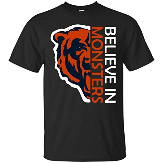 7e033e04 Amazon.com: Believe in Monsters Chicago Bears Football Retro T Shirt ...