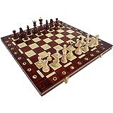 ChessEbook Jeu d'échecs en bois avec mallette SENATOR 40 cm