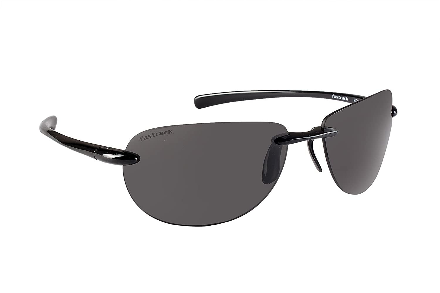 5b792f2ce37 Fastrack-R052BK1 Black Oval Sunglasses for Men   Women  Amazon.in  Clothing    Accessories