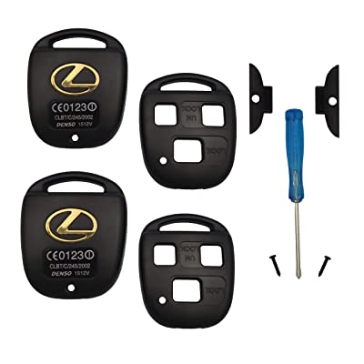 Key Case Replacement for Lexus GS300 GS400 GS430 GX470 IS300 LS400 LS430 LX470 RX300 RX330 RX350 RX400h RX450h SC430 Keyless Entry Remote BINOWEN-Key Fob Housing(2PC): Car Electronics