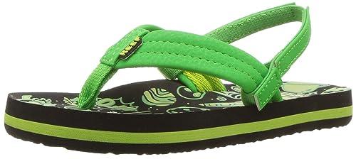 e94a3e644792 Reef Boys  AHI Glow Sandal Green UFO 034 M US Toddler
