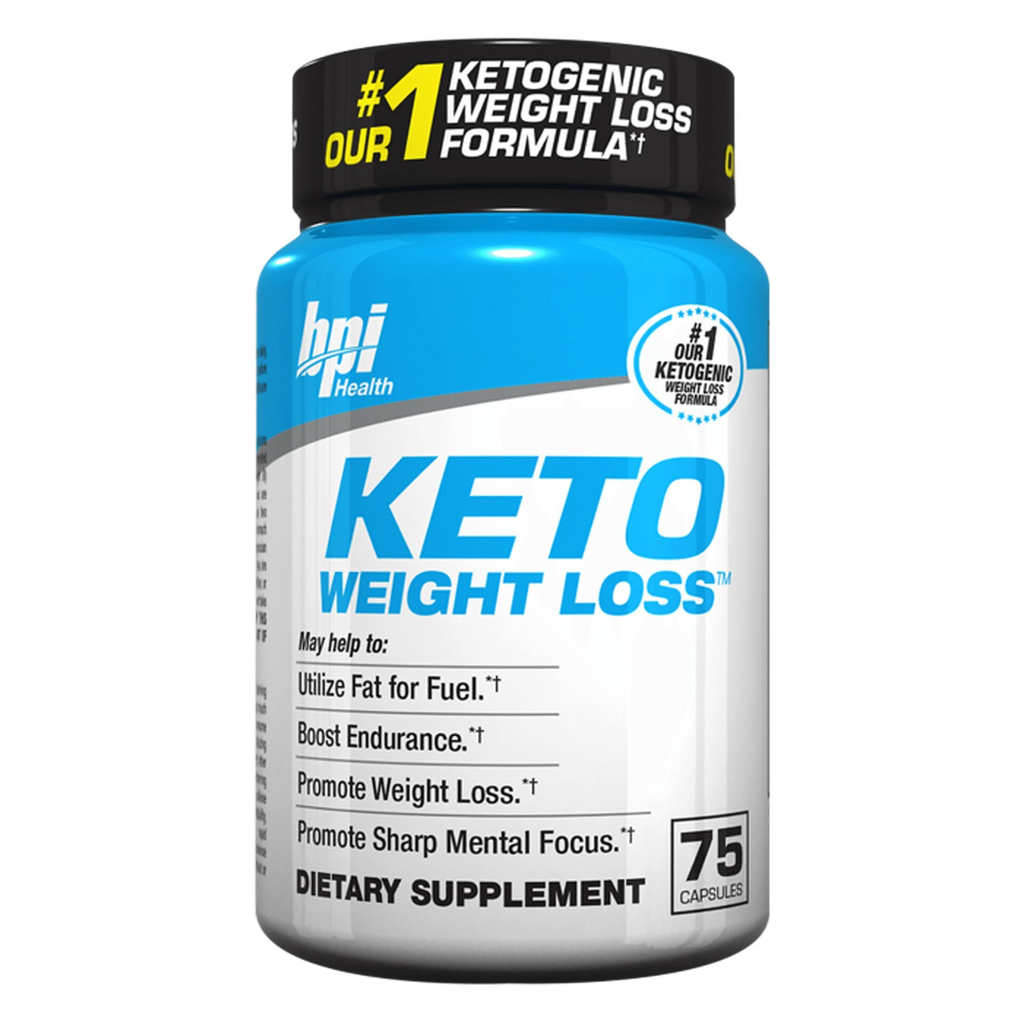 Keto Weight Loss Is A Ketogenic Fat Burner - Formulated for the Keto Diet To Burn Fat, Maintain Ketosis, Enhance Mental Focus & Clarity - BHB's, MCT and More - 75 Easy to Swallow Capsules by BPI Sports