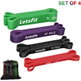 Letsfit Pull Up Assist Band, Extra Durable Resistance Band, Stretch Band, Elastic Exercise Band for Chin-ups Powerlifting Stretching Mobility Fitness Strength Training Yoga