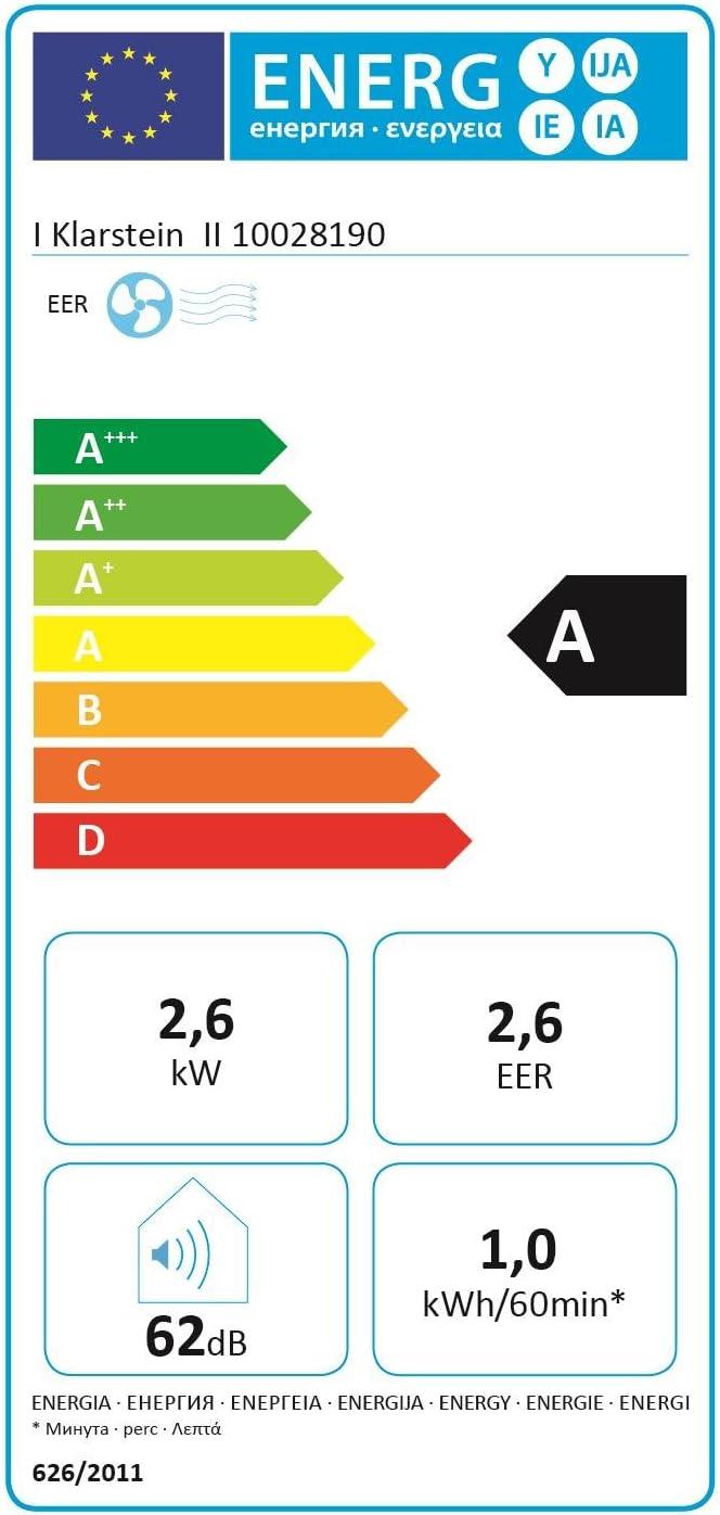 D/éshumidificateur KLARSTEIN Metrobreeze 9 Paris 2019 Edition Ventilateur Bronze Tuyau d/évacuation Climatiseur Puissance 1050W /Écran LED T/él/écommande Set Isolation fen/être