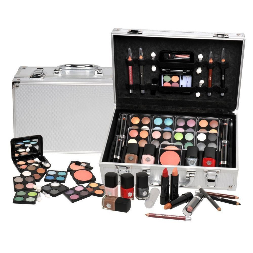 Ardisle 52 Set Vanity Case Beauty Cosmetic Make Up Storage Box Ladies Girls Xmas Gift Box Travel Cosmetic Vanity Case Friend Christmas Present