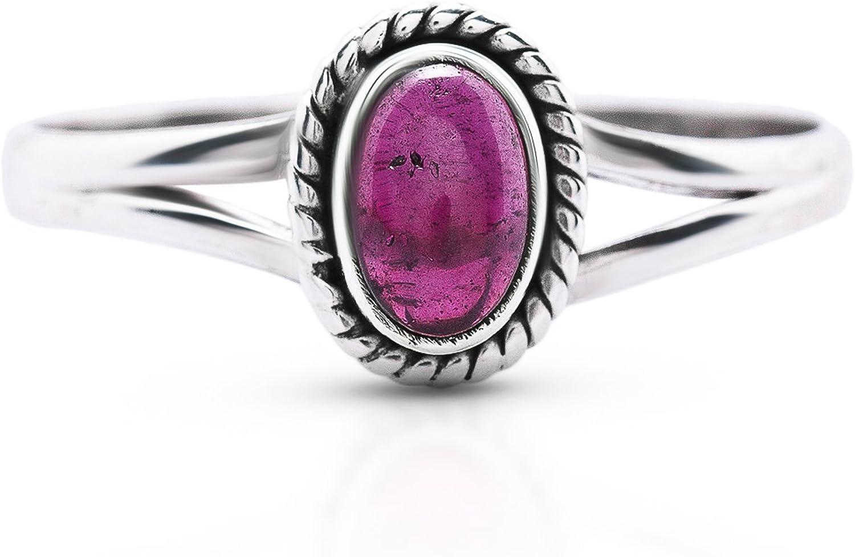 Koral Jewelry Labradorite Oval Stone Ethnic Ring 925 Sterling Silver Vintage Tribal Gipsy Boho Look US Size 6 7 8 9 10