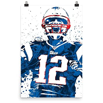 tom brady missing jersey poster
