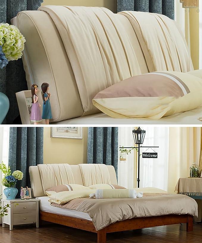 GUOWEI Coussin de chevet Canapé-lit Grand coussin triangulaire à coussin rempli Coussin flanelle de couleur pure Support de positionnement du dossier Oreiller de lecture d'oreiller-8 couleurs, 5 tailles disponib