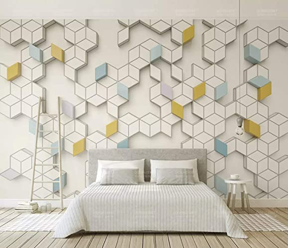 Amazon.com: Murwall Geometric Wallpaper Honeycomb Pattern Wall Mural ...