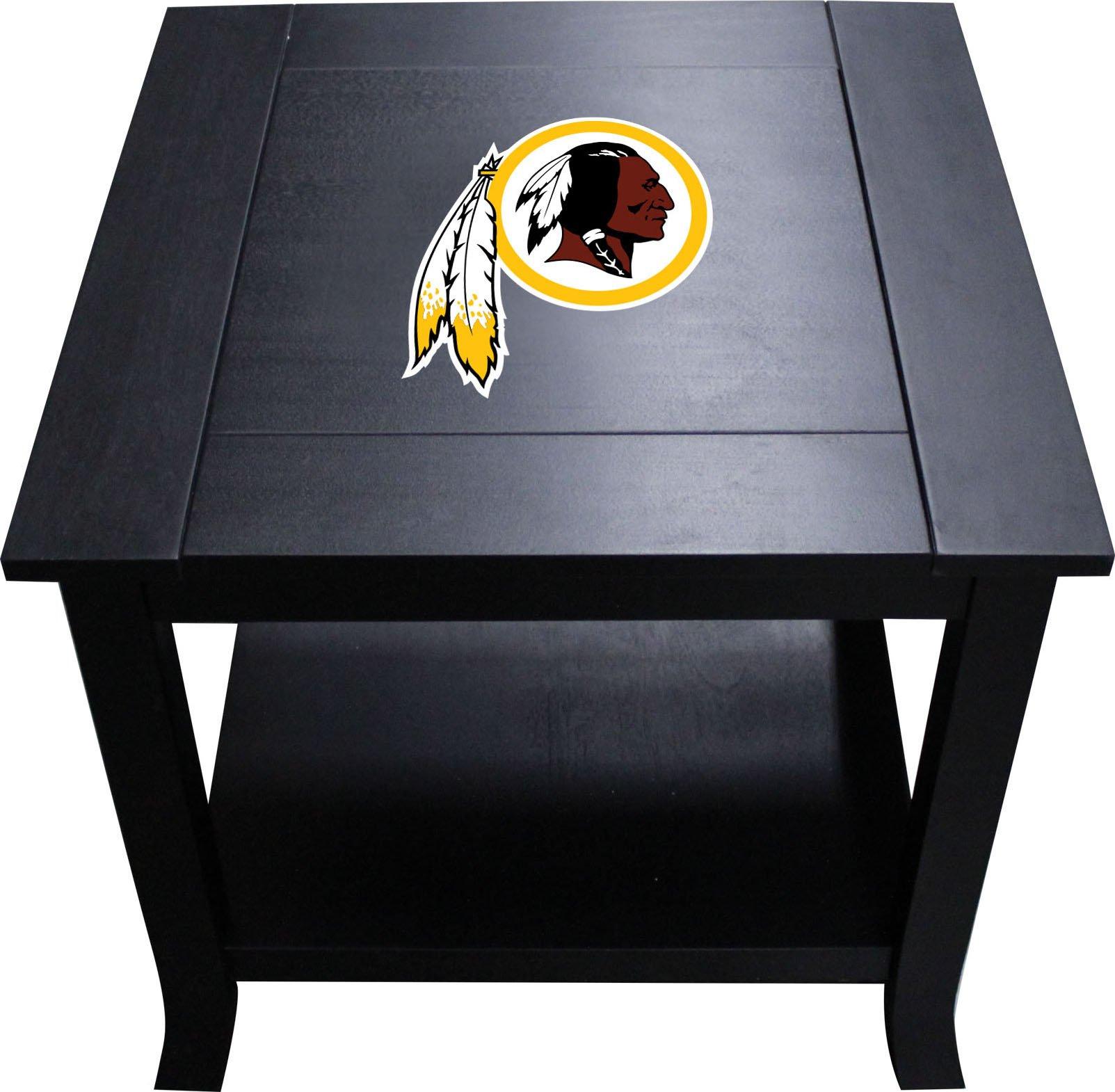 Imperial Officially Licensed NFL Furniture: Hardwood Side/End Table, Washington Redskins