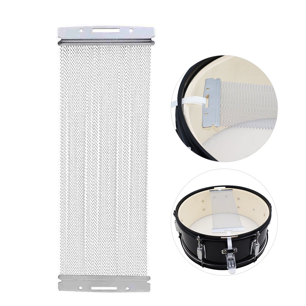 Andoer Steel Snare Wire 40 Strand Drum Spring for 14 Inch Snare Drum Cajon Box Drum Drum Strings