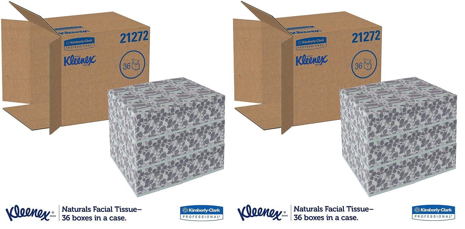 Kleenex 21272 Naturals Facial Tissue, 2-Ply, White, 95 Per Box (2 CASES)