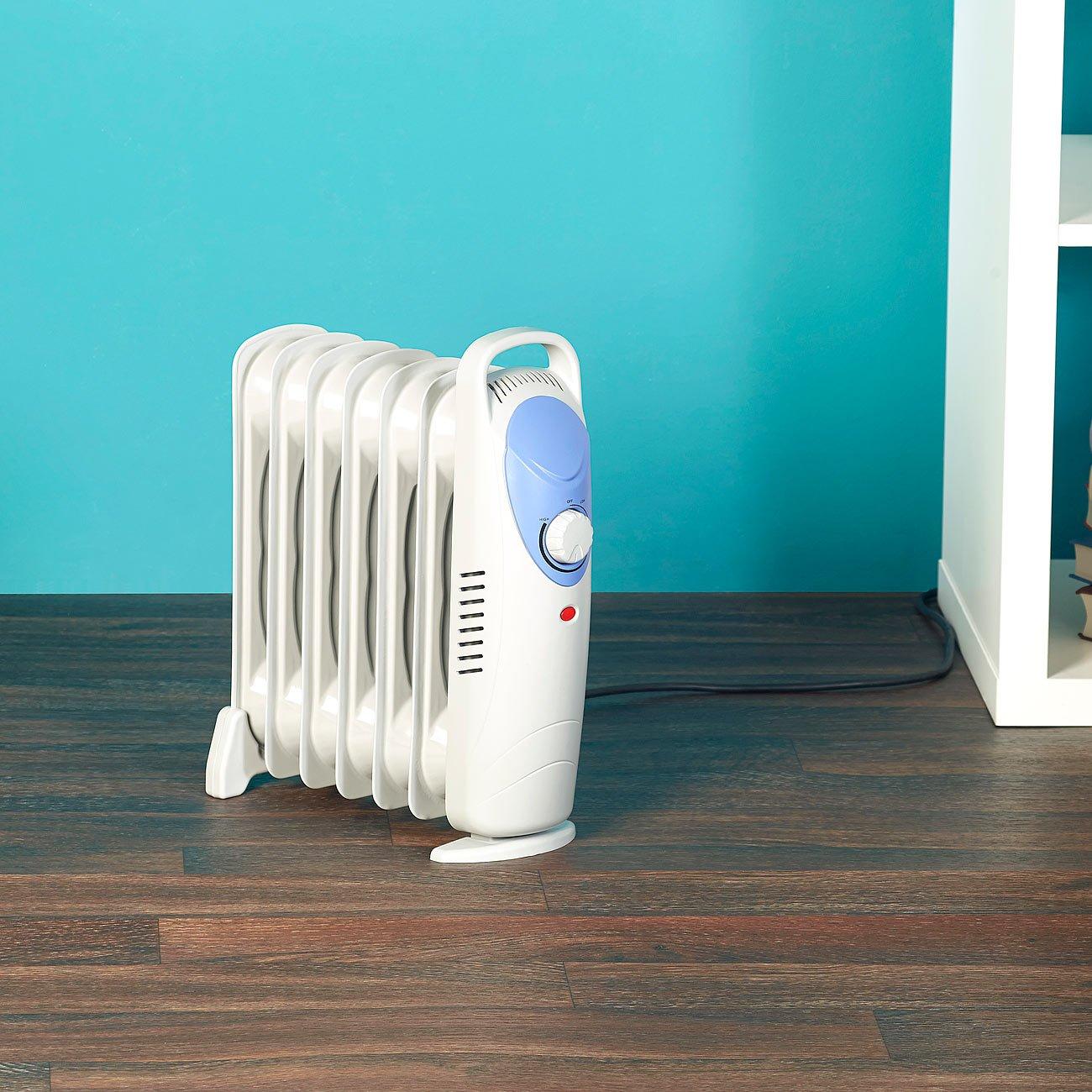 Sichler haushaltsgeräte Sichler aceite-radiador con 7 costillas y termostato, 800 vatios: Amazon.es: Bricolaje y herramientas
