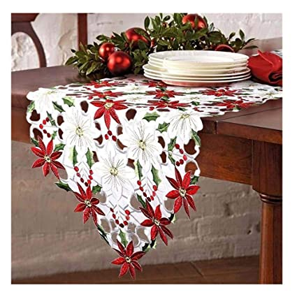 Enjoyable Kingko Christmas Table Runners Luxury Embroidered Table Interior Design Ideas Gentotryabchikinfo