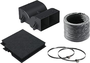 Bosch DWZ0DX0U0 Cooker hood recycling kit accesorio para campana de estufa - Accesorio para chimenea (Cooker hood recycling kit, Negro, 15 cm, ...