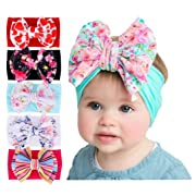 Baby Girl's Beautiful Headbands Newborn,Toddler and Kids Elastic Hairband for Photograph (Mixed 5 Color -New05)