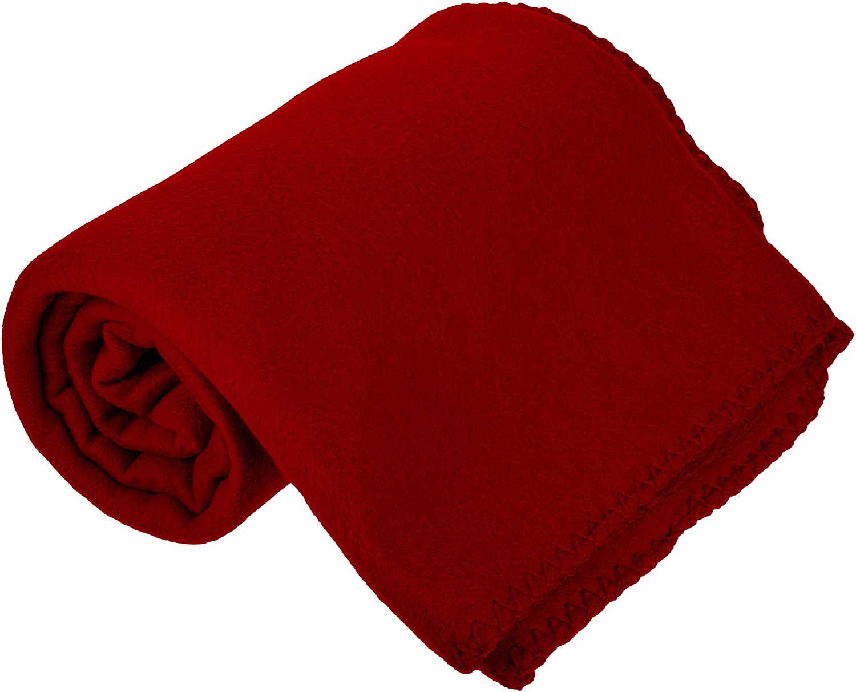 """Lot of 4 Random Colors Printed Fleece Blanket Throw ze 50/""""x60/"""""""