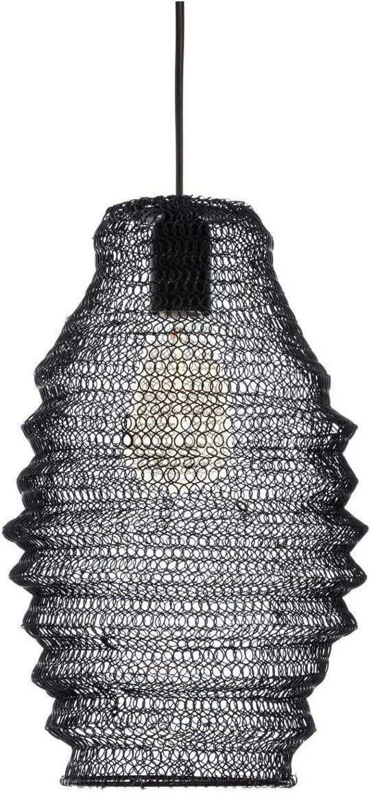 Atmosphera Suspension Maille en Fer Noir H 36 cm Ali