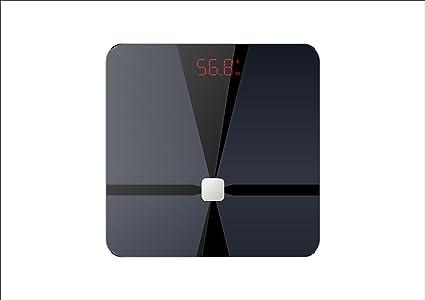 HS10 grasa corporal escala báscula de baño de alta precisión Bluetooth, Ultra Slim parte superior