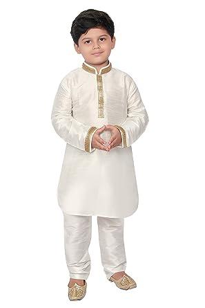 7576df193 BEDI'S Boys Kurta Pyjama Indian Wedding Party WEAR Kurta Pajama Pakistani  Salwar Kameez- Off White