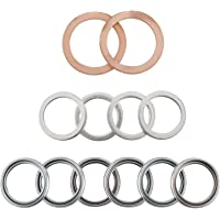NovelBee 12pcs Transfer and Differential Fill Drain Plug Gaskets Compatible with Toyota Lexus 4Runner Land Cruiser…