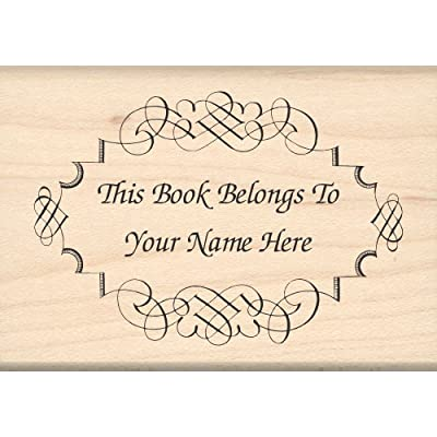 Custom Made & Personalized - This Book Belongs to: Bookplate Library Rubber Stamp by Stamps by Impression: Arts, Crafts & Sewing